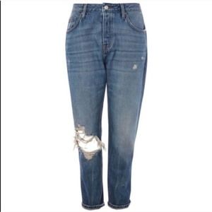 Topshop NWT Hayden Distressed Busted Knee Denim 25